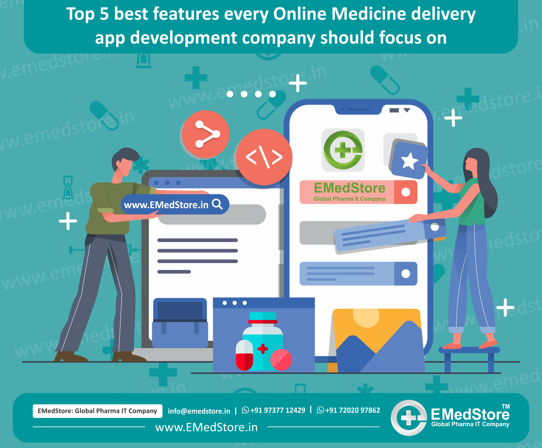 Top 5 best features every Online Medicine delivery app development company should focus on